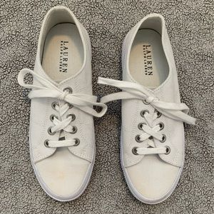 Ralph Lauren Jolie Lace-Up White Sneakers